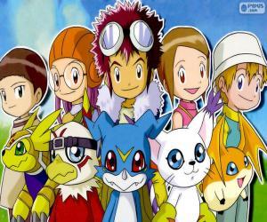 puzzel Digimon de protagonisten