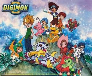 puzzel Digimon Personages