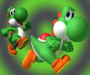 puzzel Dinosaurus Yoshi is de beste vriend Mario's