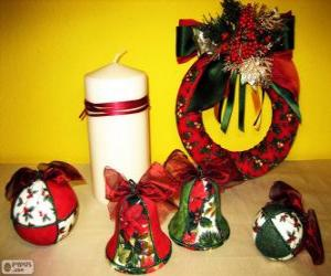 puzzel Diverse Kerst ornamenten