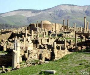 puzzel Djémila het beste bewaard Berbero-Romeinse ruines in Noord-Afrika, Algerije