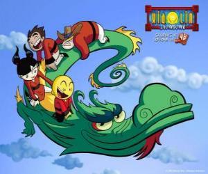 puzzel Dojo Kanojo Cho, de draak van de krijgers Xiaolin de vorm ervan wijzigt