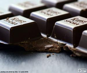 puzzel Donkere chocolade Tablet