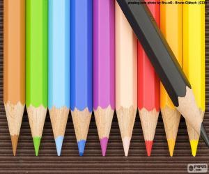 puzzel Doos van kleurpotloden