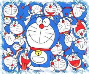 puzzel Doraemon is een kosmisch kat die afkomstig is uit de toekomst