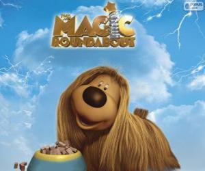 puzzel Dougal, de hond met lang haar von The Magic Roundabout, Minimolen