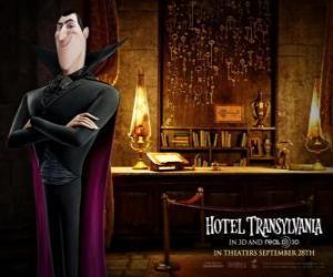 puzzel Dracula, de eigenaar van het Hotel Transsylvanië