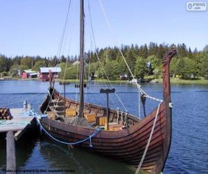 puzzel Drakkar of Vikingschip