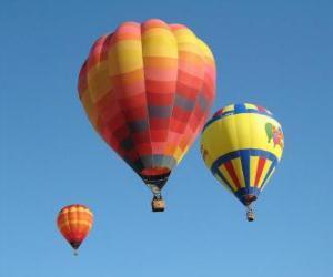 puzzel Drie ballonnen