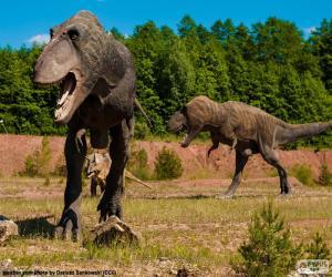 puzzel Drie dinosaurussen
