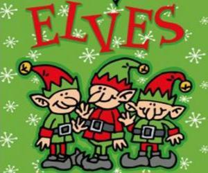 puzzel Drie elfjes van de kerstman