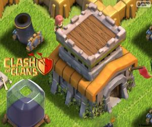 puzzel Drie gebouwen van Clash van Clans