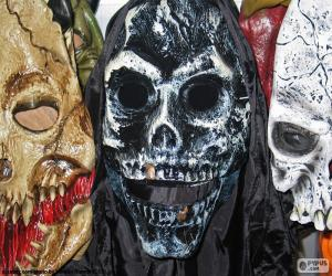 puzzel Drie Maskers Halloween
