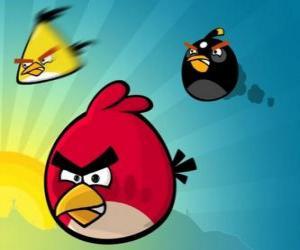 puzzel Drie van de vogels uit Angry Birds