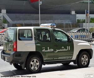 puzzel Dubai politieauto
