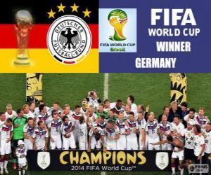 puzzel Duitsland, de wereldkampioen. Brazilië 2014 Wereldkampioenschap voetbal