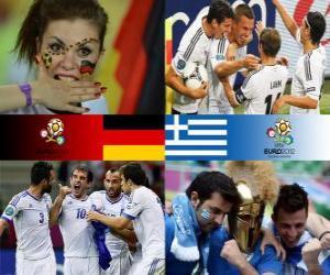 puzzel Duitsland - Griekenland, kwartfinales, Euro 2012