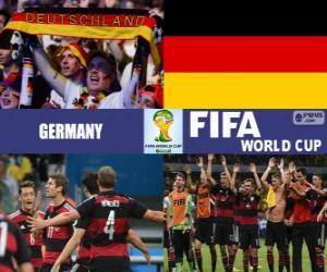 puzzel Duitsland viert zijn classificatie, Brazilië 2014