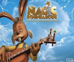 puzzel Dylan, het konijn die gitaar speelt