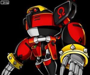 puzzel E-123 Omega, robot gemaakt door doctor Eggman
