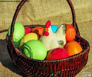puzzel Easter basket