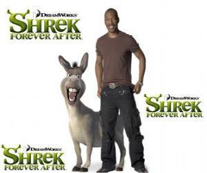 puzzel Eddie Murphy geeft de stem van Donkey, in de nieuwste film Shrek Forever Na