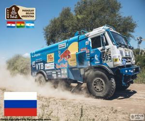 puzzel Eduard Nikolaev, Dakar 2017