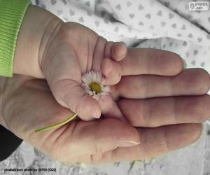 puzzel Een bloem voor mamma