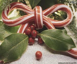 puzzel Een boog lint kerst riet