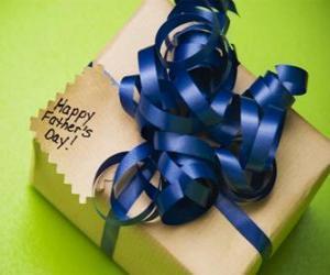 puzzel Een cadeau voor papa met een lint