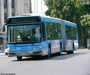 puzzel Een gelede bus van twee modules