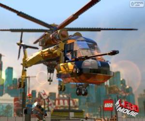 puzzel Een helikopter uit de film Lego