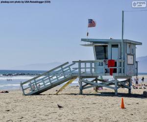 puzzel Een hulp- en bewakingspost op het strand