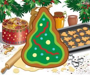puzzel Een Kerstmis Koekje, kerstboom