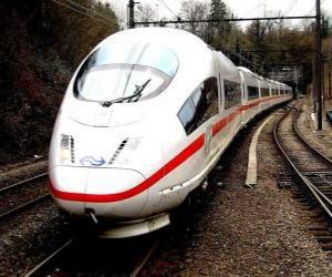puzzel Een kogel trein of met hoge snelheid passagierstrein