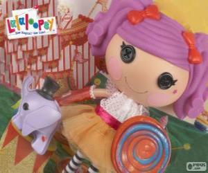 puzzel Een Lalaloopsy pop, Peanut Big Top met haar huisdier, een olifant