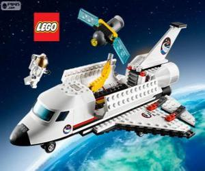 puzzel Een Lego City Spaceshuttle