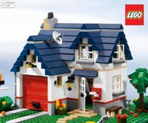 puzzel Een Lego huis