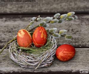 puzzel Een nest van Pasen