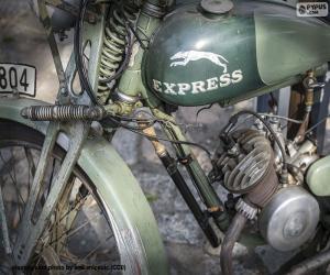 puzzel Een oude motorfiets
