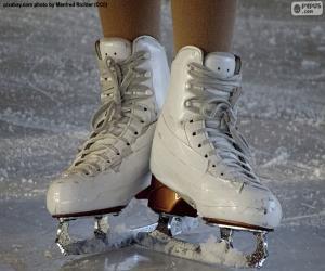 puzzel Een paar schaatsen voor kunstrijden