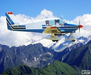 puzzel Een propeller-vliegtuig