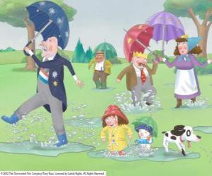 puzzel Een regenachtige dag in het Koninkrijk van de Little Princess