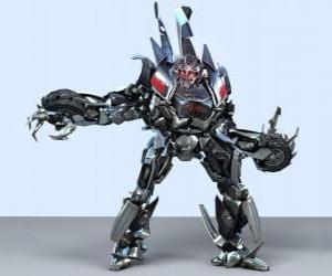 puzzel Een transformator, een intelligente robot. De transformatoren