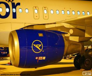 puzzel Een vliegtuigmotor