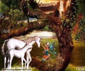 puzzel Eenhoorns en Fairy