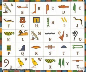 puzzel Egyptisch alfabet