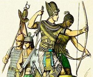 puzzel Egyptische soldaat met een boog