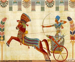 puzzel Egyptische strijder en strijdwagen