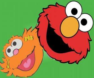 puzzel Elmo en Zoe